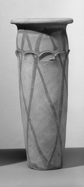 Wavy-Handled Cylindrical Vase, ca. 3100-2675 B.C.E. Terracotta, painted, 10 3/8 x Greatest Diam. 4 7/16 in. (26.4 x 11.3 cm). Brooklyn Museum, Charles Edwin Wilbour Fund, 09.889.718. Creative Commons-BY