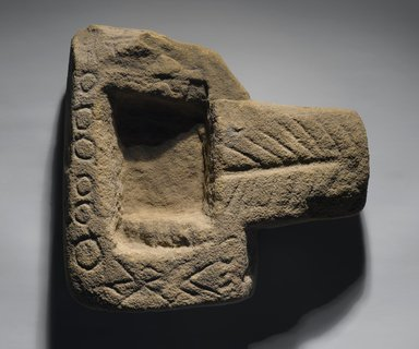 Roman?. Offering Table, 332 B.C.E. - 395 C.E. Sandstone, 9 13/16 x 3 5/16 x 11 1/4 in. (25 x 8.4 x 28.5 cm). Brooklyn Museum, Charles Edwin Wilbour Fund, 09.889.807. Creative Commons-BY