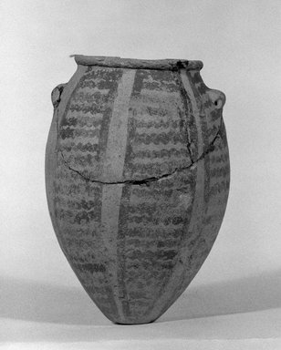 Painted Pot, ca. 3500-3300 B.C.E. Terracotta, painted, height: 4 1/2 in. (11.5 cm). Brooklyn Museum, Charles Edwin Wilbour Fund, 09.889.855. Creative Commons-BY