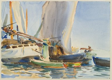 John Singer Sargent (American, 1856-1925). The Giudecca, ca. 1904. Translucent watercolor and touches of opaque watercolor and graphite, with graphite underdrawing, 10 x 14in. (25.4 x 35.6cm). Brooklyn Museum, Purchased by Special Subscription, 09.890