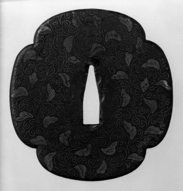 Sword Guard, 17th century. Iron, brass, copper, 3 3/8 x 3 1/4 in. (8.6 x 8.2 cm). Brooklyn Museum, Museum Expedition 1909, Purchased with funds given by Thomas T. Barr, E. LeGrand Beers, Carll H. de Silver, Herman B. Stutzer, Colonel Robert B. Woodward and the Museum Collection Fund, 09.915.4. Creative Commons-BY