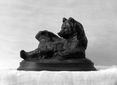 Antoine-Louis Barye (French, 1795-1875). Seated Bear (Ours assis, ou Ours couché), modeled 1833; cast date unknown. Bronze, 5 1/2 x 8 x 5 1/2 in. (14 x 20.3 x 14 cm). Brooklyn Museum, Purchased by Special Subscription, 10.122. Creative Commons-BY