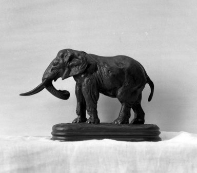 Antoine-Louis Barye (French, 1795-1875). African Elephant. Bronze, 5 1/4 x 7 7/8 x 2 5/8 in. (13.3 x 20 x 6.7 cm). Brooklyn Museum, Purchased by Special Subscription, 10.149. Creative Commons-BY