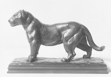 Antoine-Louis Barye (French, 1795-1875). Jaguar Standing. Bronze, 5 x 7 3/4 in. (12.7 x 19.7 cm). Brooklyn Museum, Purchased by Special Subscription, 10.166. Creative Commons-BY