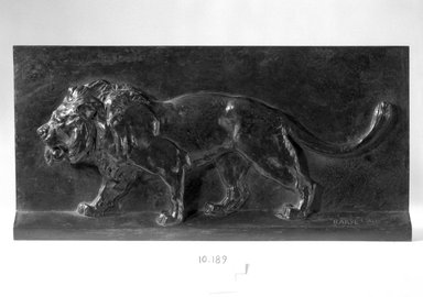 Antoine-Louis Barye (French, 1795-1875). Lion Walking. Bronze, 7 7/8 x 6 1/8 in. (20 x 15.6 cm). Brooklyn Museum, Purchased by Special Subscription, 10.189. Creative Commons-BY