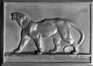 Antoine-Louis Barye (French, 1795-1875). Puma, 1831. Bronze, 4 1/8 x 5 3/4 in. (10.5 x 14.6 cm). Brooklyn Museum, Purchased by Special Subscription, 10.193. Creative Commons-BY