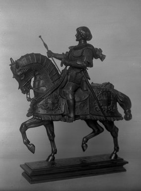 Antoine-Louis Barye (French, 1795-1875). Gaston de Foix on Horseback (Gaston de Foix). Bronze, 14 x 11 3/8 x 5 7/8 in. (35.6 x 28.9 x 14.9 cm). Brooklyn Museum, Purchased by Special Subscription, 10.201. Creative Commons-BY