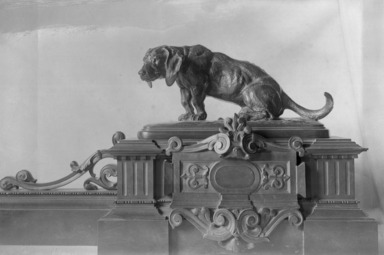 Antoine-Louis Barye (French, 1795-1875). Fender for Fireplace with Two Dachshunds. Bronze, 11 x 60 in. (27.9 x 152.4 cm). Brooklyn Museum, Purchased by Special Subscription, 10.205. Creative Commons-BY