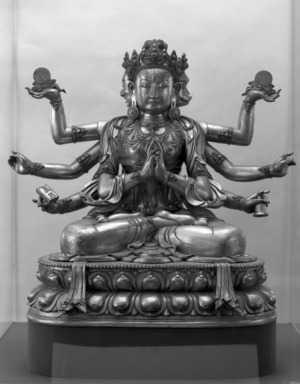 Gilt Figure of Marichi, 18th century. Bronze with traces of gilding, 35 x 34 in. (88.9 x 86.4 cm). Brooklyn Museum, Gift of Robert B. Woodward and Carll H. de Silver, 10.221. Creative Commons-BY