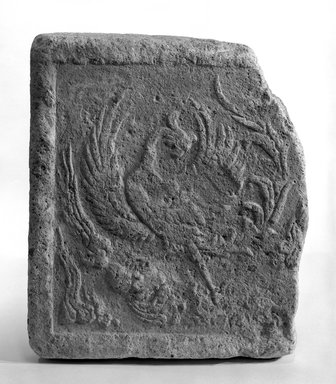 Tile, 8th century. Terracotta relief tile, 13 11/16 x 3 9/16 x 17 7/16 in. (34.7 x 9 x 44.3 cm). Brooklyn Museum, Gift of Carll H. de Silver, A. Augustus Healy, and Robert B. Woodward, 10.222.1. Creative Commons-BY