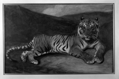 Brooklyn Museum: Tiger Reclining (Tigre couché)