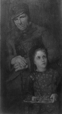 Julian Alden Weir (American, 1852-1919). The Flower Seller, ca. 1879. Oil on canvas, 40 3/8 x 22 1/8 in. (102.5 x 56.2 cm). Brooklyn Museum, Gift of George A. Hearn, 11.522