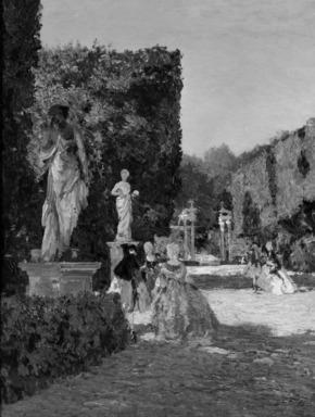 Emma Ciardi (Italian, 1879-1933). Boboli Gardens, 1909. Oil on canvas, 33 1/4 x 26 1/4 in.  (84.5 x 66.7 cm). Brooklyn Museum, 11.527
