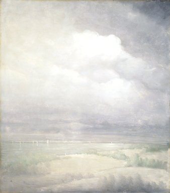 Leon Dabo (American, 1868-1960). Silver Light, Hudson River, 1911. Oil on canvas, 34 1/8 x 30 in. (86.6 x 76.2 cm). Brooklyn Museum, Gift of Reverend Newell D. Hillis, 11.530