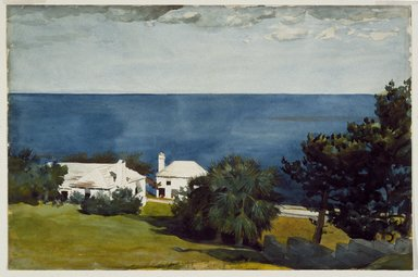 Winslow Homer (American, 1836-1910). Shore at Bermuda, ca. 1899. Watercolor over pencil, 14 x 21 in. (35.5 x 53.4 cm). Brooklyn Museum, Museum Collection Fund and Special Subscription, 11.539