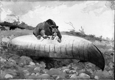 Brooklyn Museum: Bear and Canoe