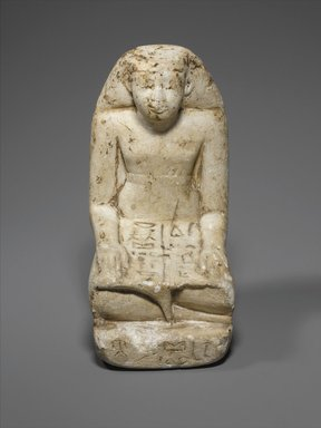 Statuette of Sennefer, ca. 1938-1837 B.C.E. Limestone, paint, 6 1/2 x 3 x 4 5/8 in. (16.5 x 7.6 x 11.8 cm). Brooklyn Museum, Museum Collection Fund, 11.658. Creative Commons-BY