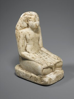 Statuette of Sennefer, ca. 1938-1837 B.C.E. Limestone, painted, 6 1/2 x 3 1/8 x 4 13/16 in. (16.5 x 7.9 x 12.2 cm). Brooklyn Museum, Museum Collection Fund, 11.658. Creative Commons-BY
