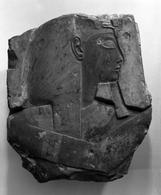 Relief of Ramses II, ca. 1279-1213 B.C.E. Limestone, paint, 15 x 17 in. (38.1 x 43.2 cm). Brooklyn Museum, Museum Collection Fund, 11.670. Creative Commons-BY