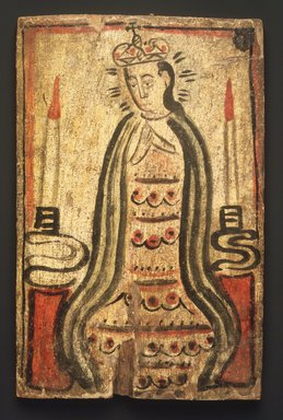 Molleno. Nuestra Señora de San Juan de Lagos (Our Lady of Saint John of the Lakes), ca. 1805-45. Pine, gesso, water-based paints, 10 7/8 x 7 in. (27.6 x 17.8 cm). Brooklyn Museum, Museum Expedition 1911, Museum Collection Fund, 11.694.9074