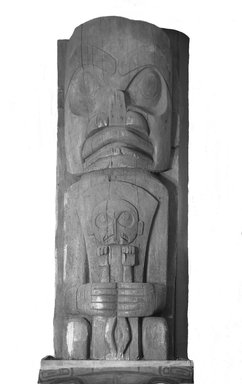 Heiltsuk (Bella Bella) (Native American). House Post, from a Set of Four, 19th century. Cedar wood, 91 1/2 x 31 1/2 x 17 1/4in. (232.4 x 80 x 43.8cm). Brooklyn Museum, Museum Expedition 1911, Museum Collection Fund, 11.700.2. Creative Commons-BY