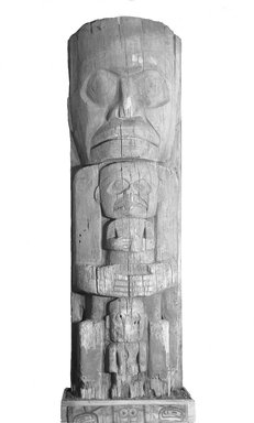 Heiltsuk (Bella Bella) (Native American). House Post, from a Set of Four, 19th century. Cedar wood, 103 1/2 x 34 x 16 in.  (262.9 x 86.4 x 40.6 cm). Brooklyn Museum, Museum Expedition 1911, Museum Collection Fund, 11.700.3. Creative Commons-BY