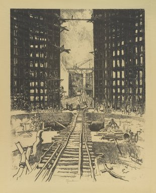 Joseph Pennell (American, 1860-1926). The Gates of Pedro Miguel Lock, 1912. Lithograph, composition: 21 5/8 x 16 9/16 in. (55 x 42 cm). Brooklyn Museum, Gift of the artist, 12.112