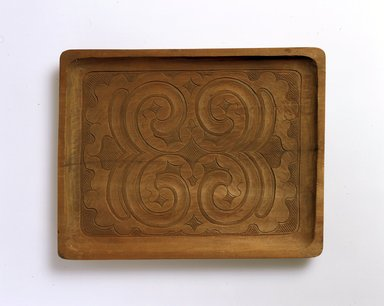 Ainu. Light Oblong Tray. Wood, 7/8 x 11 7/8 x 9 1/8 in. (2.2 x 30.1 x 23.2 cm). Brooklyn Museum, Gift of Herman Stutzer, 12.341. Creative Commons-BY