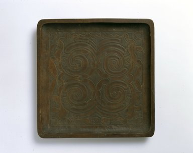 Ainu. Square Tray. Wood, 1 x 10 3/8 x 10 9/16 in. (2.6 x 26.4 x 26.9 cm). Brooklyn Museum, Gift of Herman Stutzer, 12.342. Creative Commons-BY