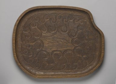 Ainu. Tray. Wood, 15/16 x 13 1/16 x 10 3/8 in. (2.4 x 33.2 x 26.4 cm). Brooklyn Museum, Gift of Herman Stutzer, 12.353. Creative Commons-BY