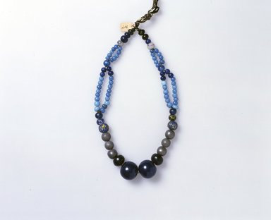 Ainu. Woman's Bead Necklace. Beads, 1 3/16 x 21 1/4 in. (3 x 54 cm). Brooklyn Museum, Gift of Herman Stutzer, 12.449. Creative Commons-BY