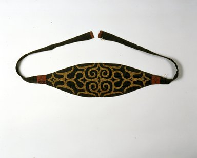 Ainu. Man's Head Band. Cotton, wool, 6 1/8 x 68 5/16 in. (15.6 x 173.5 cm). Brooklyn Museum, Gift of Herman Stutzer, 12.562a. Creative Commons-BY