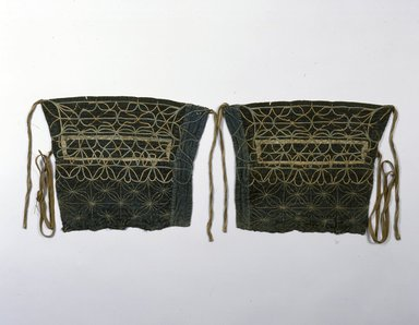 Ainu. Leggings for Dead. Cotton, A: 10 13/16 x 14 1/2 in. (27.5 x 36.9 cm). Brooklyn Museum, Gift of Herman Stutzer, 12.571a-b. Creative Commons-BY