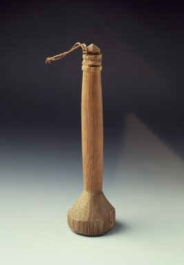 Ainu. Fish Roe Masher with Carved Handle. Wood, 1 7/8 x 6 3/4 in. (4.7 x 17.2 cm). Brooklyn Museum, Gift of Herman Stutzer, 12.588. Creative Commons-BY
