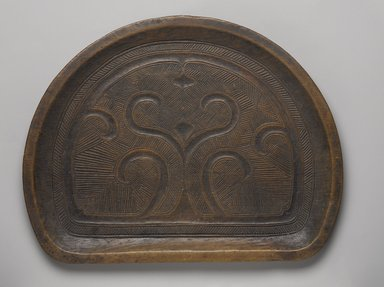 Ainu. Carved Tray, late 19th-early 20th century. Wood, 13/16 x 12 3/4 x 9 7/8 in. (2.1 x 32.4 x 25.1 cm). Brooklyn Museum, Gift of Herman Stutzer, 12.669. Creative Commons-BY