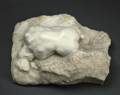 Auguste Rodin (French, 1840-1917). Danaid (Danaïde), probably 1903. Marble, 12 3/4 x 27 1/2 x 20 1/2 in.  (32.4 x 69.9 x 52.1 cm). Brooklyn Museum, Ella C. Woodward Memorial Fund, 12.873. Creative Commons-BY