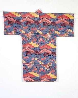 Bingata Kimono, late 19th century. Stencil-dyed cotton, 48 x 50 in. (121.9 x 127 cm). Brooklyn Museum, Brooklyn Museum Collection, 12.889. Creative Commons-BY