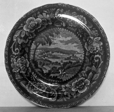 Plate (Washington), ca. 1810. Earthenware, 7 3/4 in. (19.7 cm). Brooklyn Museum, Gift of Mrs. George D. Pratt, 12.900.16. Creative Commons-BY