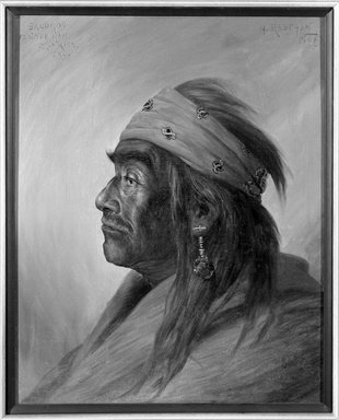 Henry Raschen (American, 1854-1937). Salomon, Medicine Man, ca. 1894. Oil on canvas, 19 7/8 x 15 15/16 in. (50.5 x 40.5 cm). Brooklyn Museum, Gift of Mrs. Abraham Abraham, 12.920