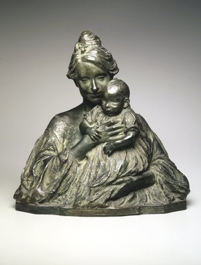 Bessie Potter Vonnoh (American, 1872-1955). Modern Madonna, 1904. Bronze, 15 1/8 x 15 x 8 1/2 in., 19 lb. (38.4 x 38.1 x 21.6 cm, 8.62kg). Brooklyn Museum, Gift of the artist, 13.1062. Creative Commons-BY