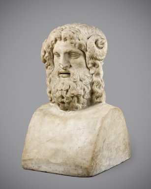 Serapis, 30 B.C.E.–395 C.E. Marble, 25 x 14 1/2 x 14 1/2 in. (63.5 x 36.8 x 36.8 cm). Brooklyn Museum, Gift of Robert B. Woodward, 13.1070. Creative Commons-BY