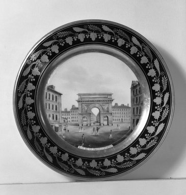 Darte Feres. Plate, 1800-1825. Porcelain, 1 1/4 x 9 3/8 in. (3.2 x 23.8 cm). Brooklyn Museum, Gift of Reverend Alfred Duane Pell, 13.1076.14. Creative Commons-BY