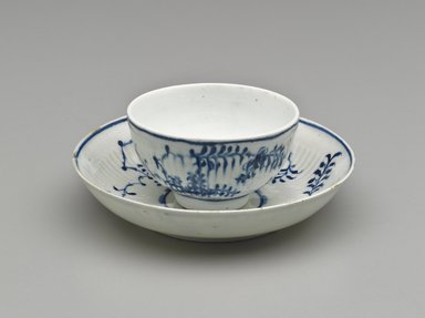 Cup and Saucer, 1760-1770. Porcelain, Cup: 1 11/16 x 3 in. (4.3 x 7.6 cm). Brooklyn Museum, Gift of Reverend Alfred Duane Pell, 13.1076.26a-b. Creative Commons-BY