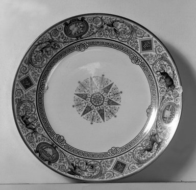 Sevres. Plate, 1838. Porcelain, 1 5/16 x 9 5/8 in. (3.3 x 24.4 cm). Brooklyn Museum, Gift of Reverend Alfred Duane Pell, 13.1076.30. Creative Commons-BY