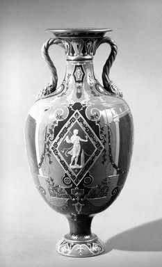 Mintons Ltd.. Vase, ca. 1890. Glazed earthenware, 16 x 5 (of rim) in. (40.6 x 12.7 cm). Brooklyn Museum, Gift of Reverend Alfred Duane Pell, 13.1076.7. Creative Commons-BY