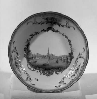 Meissen Porcelain Factory. Saucer, 1763-1774 - King's Period. Porcelain, 1 5/16 x 6 3/8 in. (3.3 x 16.2 cm). Brooklyn Museum, Gift of Reverend Alfred Duane Pell, 13.1077.3. Creative Commons-BY