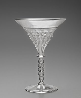 Glass, probably 16th or 17th century. Glass, 6 5/16 x 4 1/2 in. (16.1 x 11.4 cm). Brooklyn Museum, Museum Special Fund, 13.1080.14. Creative Commons-BY