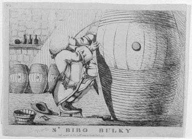 English. Sr. Bibo Bulky, 1773. Etching, sheet: 7 1/8 x 9 1/2 in. (18.1 x 24.1 cm). Brooklyn Museum, Gift of Ralph Cutter, 13.1091.2