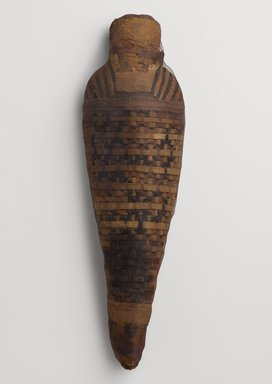 Hawk Mummy, 30 B.C.E.-395 C.E. Animal remains, linen, 4 13/16 x 2 5/8 x 16 5/16 in. (12.2 x 6.7 x 41.4 cm). Brooklyn Museum, Gift of the Egypt Exploration Fund, 13.1092. Creative Commons-BY