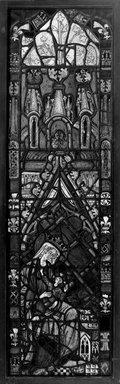 Window depicting Virgin and Child, First half of 15th century. Stained glass, 63 x 18 1/8 in. Brooklyn Museum, Special Contributions, 13.28. Creative Commons-BY